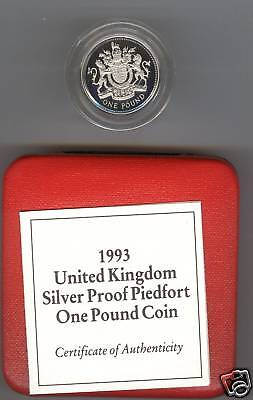 1993 Boxed Piedfort Silver Proof Royal Arms Pound