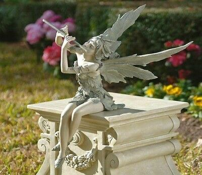 Design Toscano 'Fairy Of The West Wind' Sitting Statue / Garden Ornament