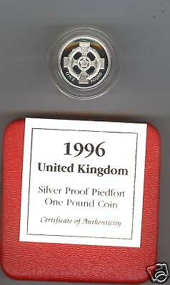1996 Boxed Double Thickness Proof Northern Ireland Silver Piedfort Pound
