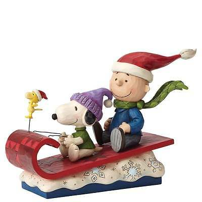 Jim Shore Peanuts Snow Day Charlie Brown, Snoopy and Woodstock Figurine 4052726