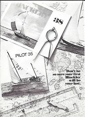 1971 Henry R Hinckley Yachts 2 Page Ad- Photos of 5 Models