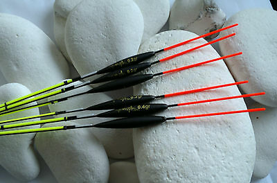 6 x New Rizov RF72 Hand Made Pole Floats with Interchangeable Tips