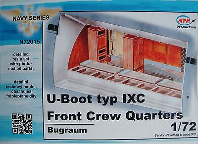 "MPM N72015 Detail Resin Set ""Front Crew Quarters"" for Revell® U-Boot IXC in 1:72"