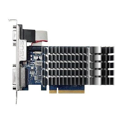 ASUS GEFORCE GT710 1GB DDR3 0dB silent passive cooling GPU