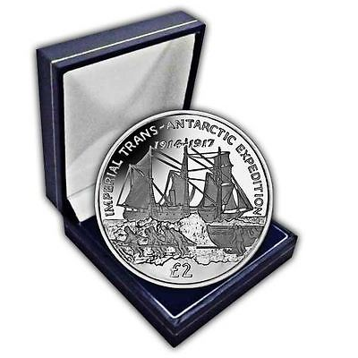 South Georgia 2017 Trans-Antarctic Expedition - Endurance CuNi Coin in a box