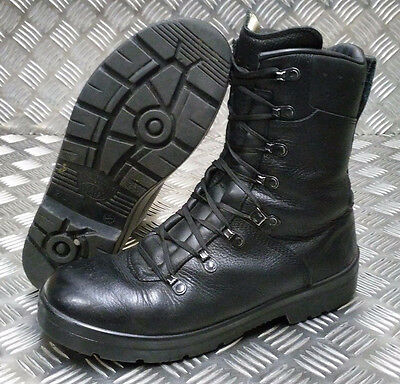 Genuine Army Issue Haix Combat Paratrooper Leather Assault Combat Black Boots