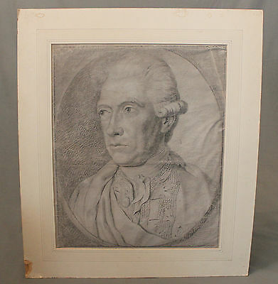 18th 19th Century Pencil Sketch Study Military of a Military Officer