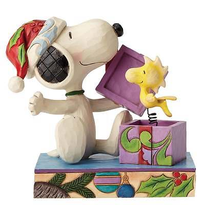 Jim Shore Peanuts A Christmas Surprise Snoopy and Woodstock Figurine New 4053696