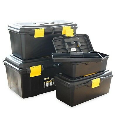 Plastic Tool Box Set 4pc With Handle Tool Storage Chest Toolboxes