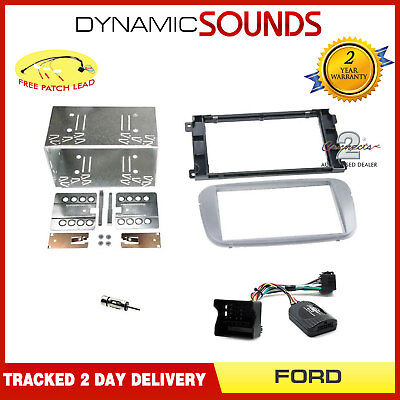 CTKFD52 Double Din Car Stereo Silver Fascia Fitting Kit For Ford Focus, Mondeo