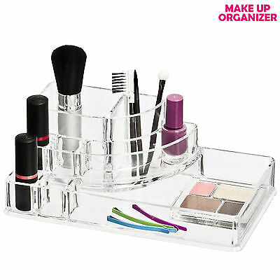 Espositore porta trucchi MAKE UP in plastica Organizer cosmetica 8 POSTI