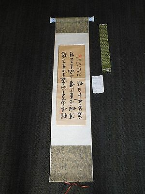 "Vintage 44"" X 10"" Chinese Wall Hanging Calligraphy Scrolls Wes Yingwa Stream"