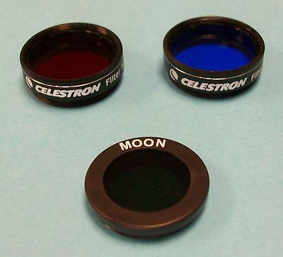 Celestron 3pc Telescope Eyepiece Filter Set With Cases - NEW