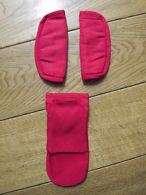 Icandy Strawberry Pushchair  Harness Pads RED Pomegranate