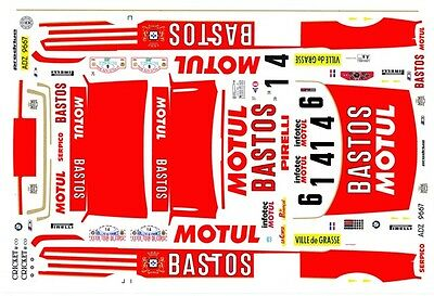 BMW M3 1989-93 Bastos Motul 1/43rd Scale Slot Car Decals