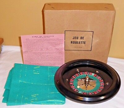Antique Bakelite Roulette Game, Made in France, Beautiful Condition