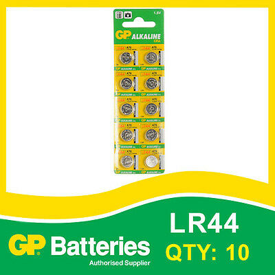 GP Alkaline Button Battery A76 (LR44) card of 10 [WATCH & CALCULATOR + OTHERS]