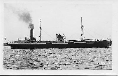 S322 RPPC 1920s? GERMANY SHIP ' EIDER ' COASTAL FREIGHTER ??