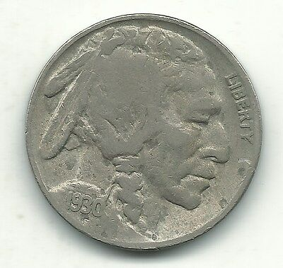 A Vintage Very Nice 1930 S Buffalo Nickel Coin-Old Us Coin-Dec463
