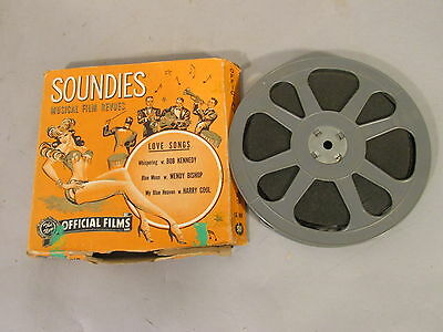 1940s 16mm OFFICIAL FILM SOUNDIES Love Songs BLUE MOON My Blue Heaven WHISPERING