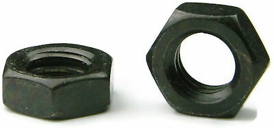 Black Oxide Stainless Steel Hex Jam Thin Nut UNC 1/4-20, Qty 100