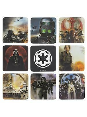 Star Wars Rogue One Pack officiel 8 sous verres Star wars Rogue One 3D coasters