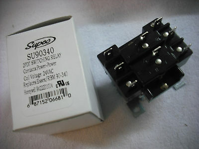 Relay, Switch, 2PDT Switching Relay 24V Coil, SU90340