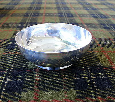 Magnificent ONC Old Newbury Crafters Hand Hammered Sterling Silver Bowl 20oz 251