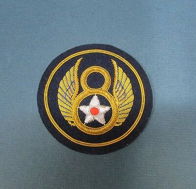 8th EIGHTH AIR FORCE BULLION WW2 ARMY AIR CORP AAC USAF Squadron Jacket Patch
