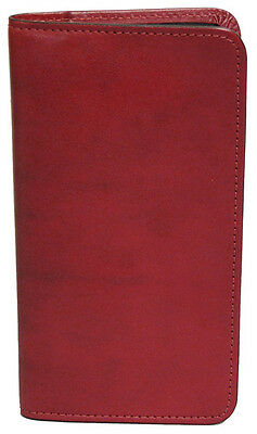 Scully Leather Pocket Address Book - Red