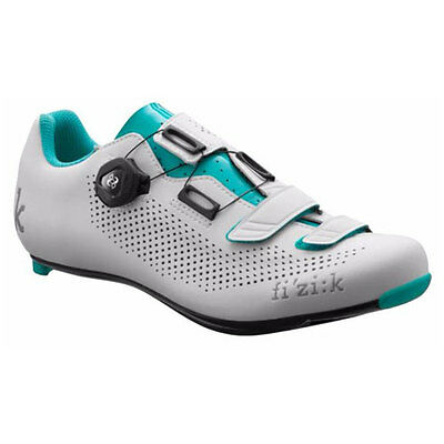 Fizik Shoes Women's Road R4 Donna BOA Carbon White/Emerald Green Size 37