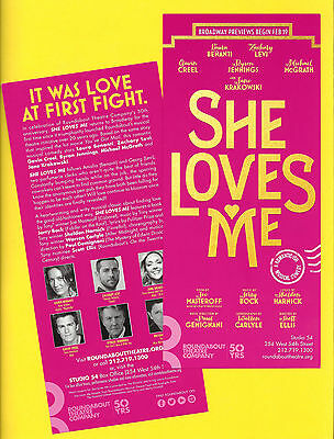 """Laura Benanti """"SHE LOVES ME"""" Zachary Levi / Bock and Harnick 2016 Opening Flyer"""