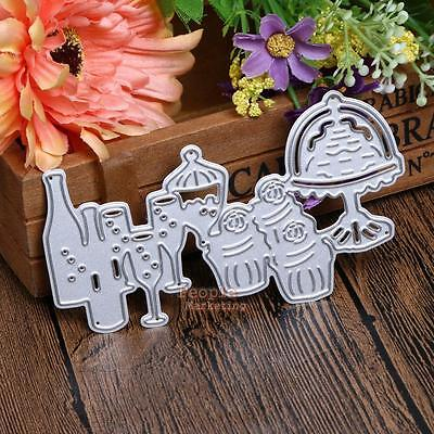 Drinks And Desserts Cutting Dies Stencils for DIY Scrapbooking Card Paper Crafts
