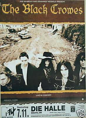 Black Crowes Concert Poster 1992 The Southern Harmony