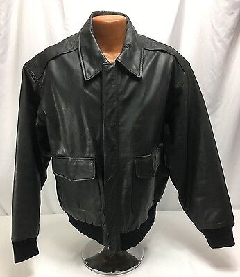 Reproduction US Air Force Black Leather A-2 Flight Jacket
