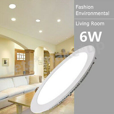 6W Round Dimmable Epistar Recessed LED Panel Light Home Hotel Ceiling Down Light