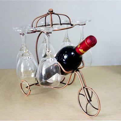 Metal Bottle Wine Holder Ornament Wine Champagne Glass Rack Stand Copper