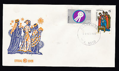 1975 Australia Christmas WCS / Wesley FDC Cover Unaddressed