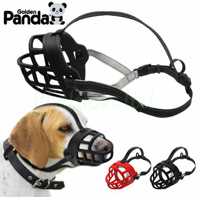 Soft Silicone Strong Dog Muzzle Basket Design Anti-biting Adjusting Straps Mask