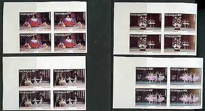 Nicaragua Ballet  Scott#1056/65  Block  Set Imperforated  Mint Nh