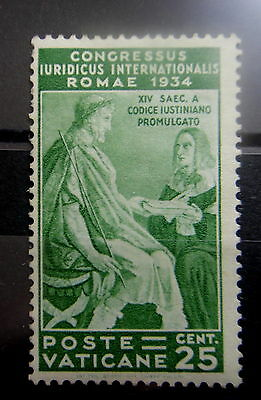 VATICAN ITALY 1935 JURIDICAL CONGRESS Stamp - Mint MNH - VF - Sc#43 - r12b1087