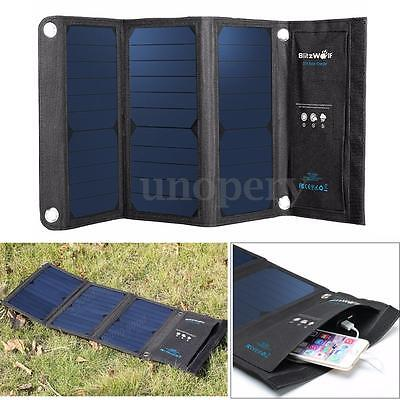 BlitzWolf Foldable 20W Dual Port Power 3S Solar Panel Charger For Phone Laptop