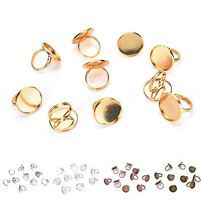 Adjustable Y shaped Ring Blank Bezel Setting Tray for Cameo Cabochons Antique DS