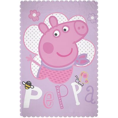 Peppa Pig Happy Fleece Blanket New Kids