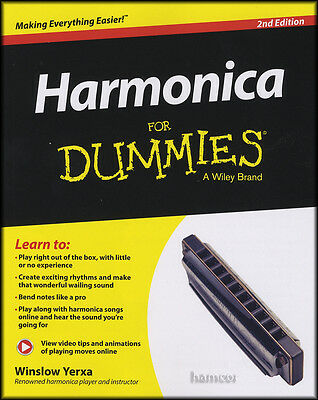 Harmonica for Dummies 2nd Edition Book/DLC Learn How to Play Beginner Method