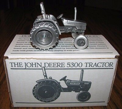 John Deere 5300 Pewter Tractor Spec Cast Toy JDM020 Historic Collection  jd NEW!