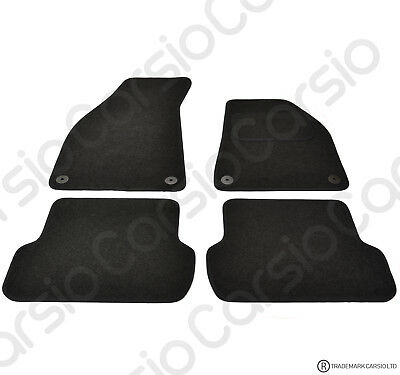 Audi A4 B6 2000 - 2008 Tailored Carpet Car Floor Mats in Black 4pc Set 4 Clips