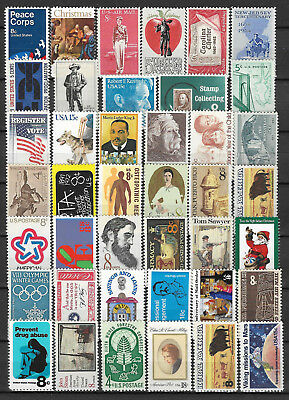 UNITED STATES USA STAMP COLLECTION PACKET of 40 DIFFERENT Stamps MNH