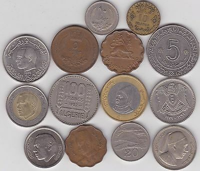 14 Coins From North African Countries In A Good Fine Or Better Condition
