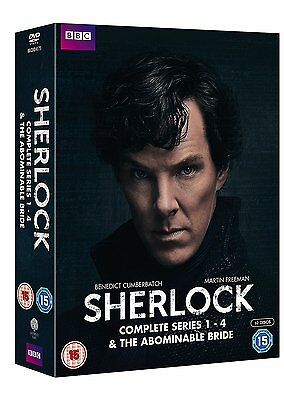 ❏ Sherlock - Series 1-4 + Abominable Bride DVD Complete BBC Collection ❏ 1 2 3 4